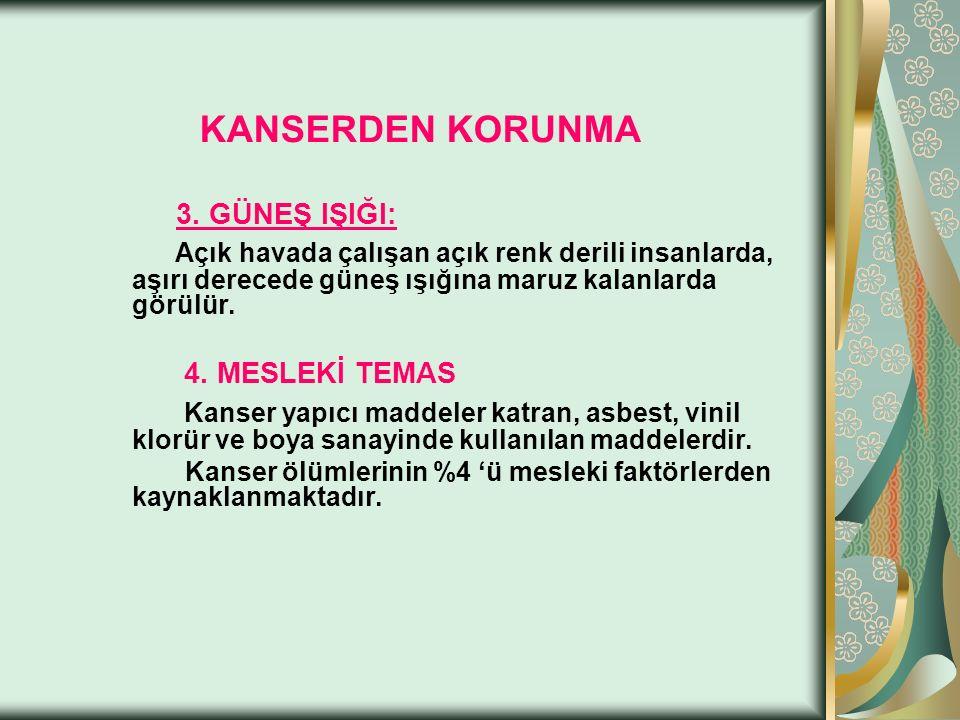 KANSERDEN KORUNMA 3.