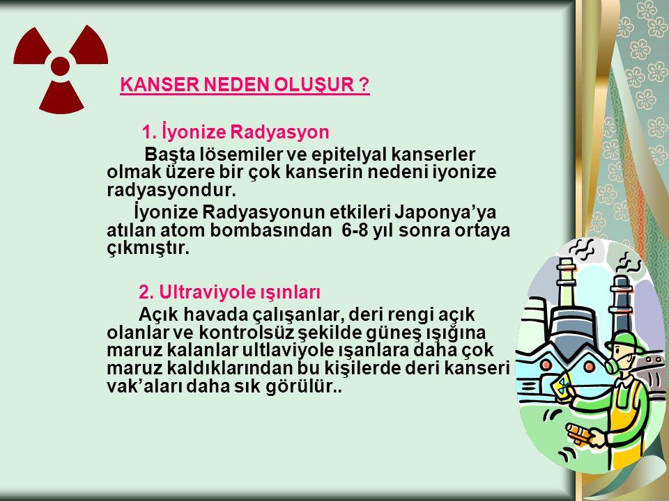 KANSER NEDEN OLUŞUR . 1.