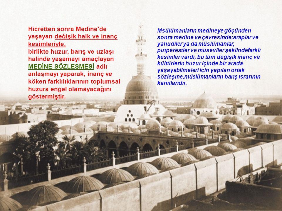Hz. Muhammed Mekke döneminde, islamı anlatmak için gittiği Taif adlı şehirde, cahil halk tarafından taşlanmasına ve çok üzülmesine rağmen, onların hen
