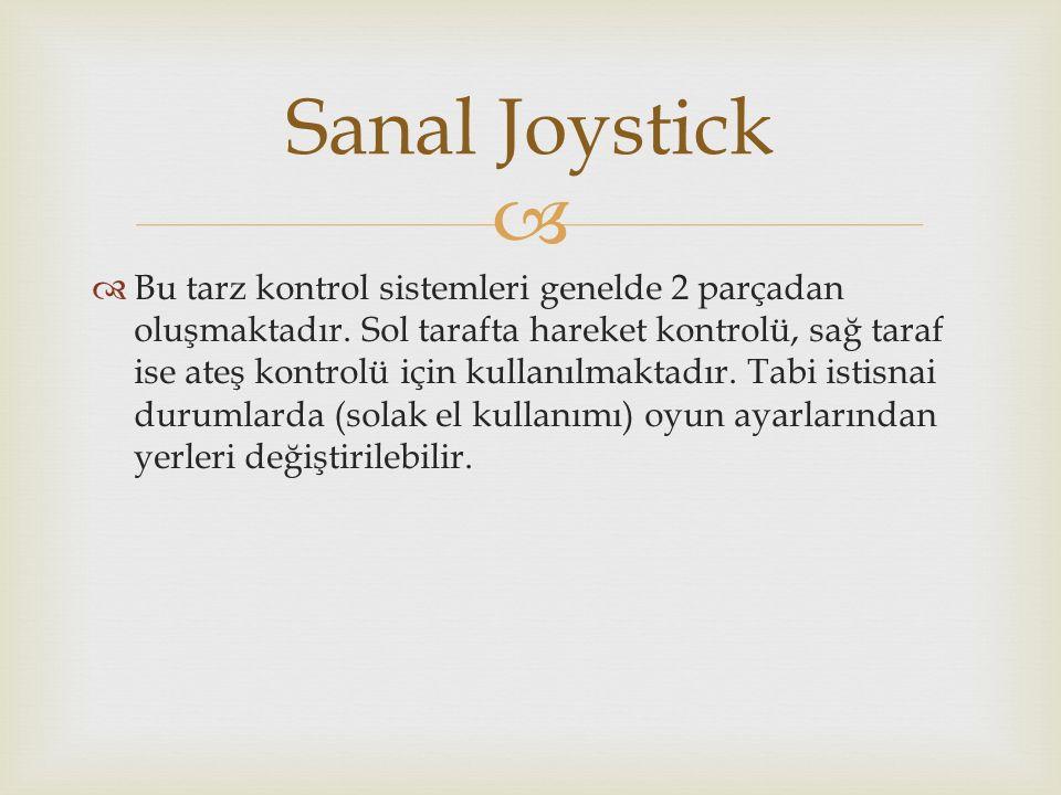  Sanal Joystickin konumlandırılması