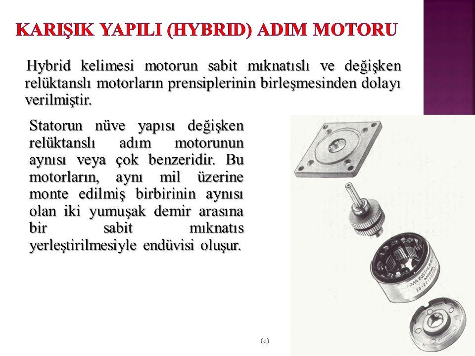 Hybrid kelimesi motorun sabit mıknatıslı ve değişken relüktanslı motorların prensiplerinin birleşmesinden dolayı verilmiştir.