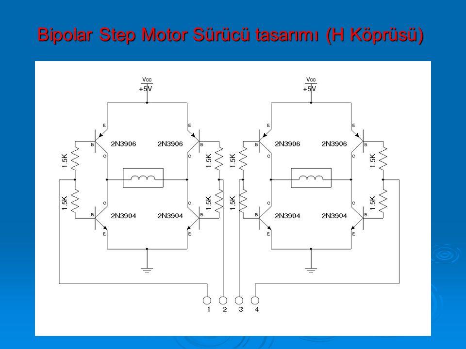 Bipolar Step Motor Sürücü tasarımı (H Köprüsü) Bipolar Step Motor Sürücü tasarımı (H Köprüsü)