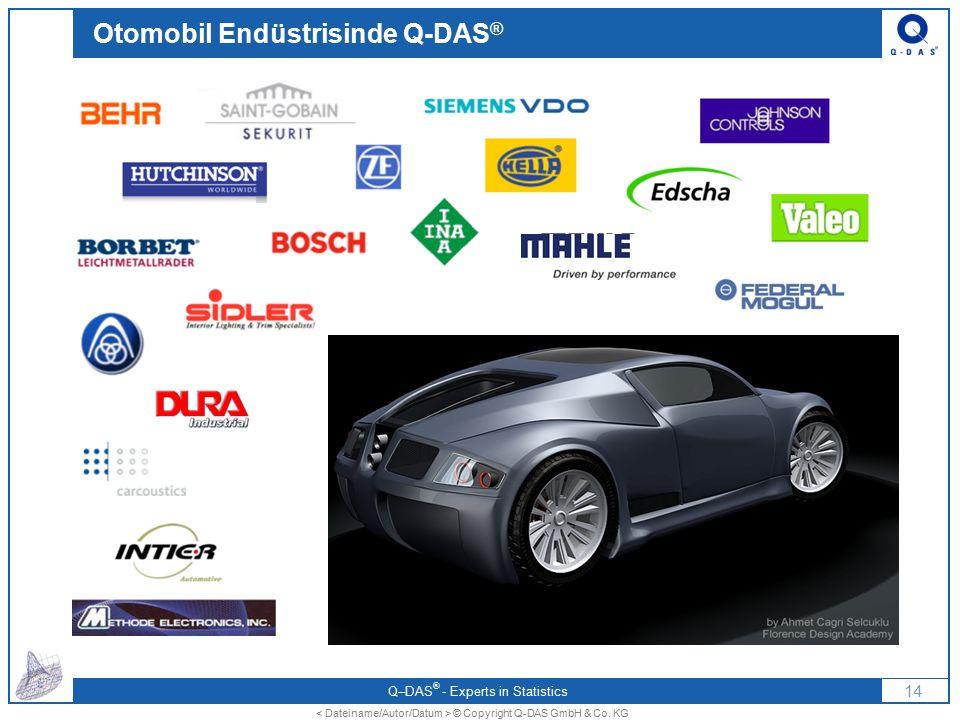 Q–DAS ® - Experts in Statistics 13 © Copyright Q-DAS GmbH & Co. KG Otomobil Endüstrisinde Q-DAS ®