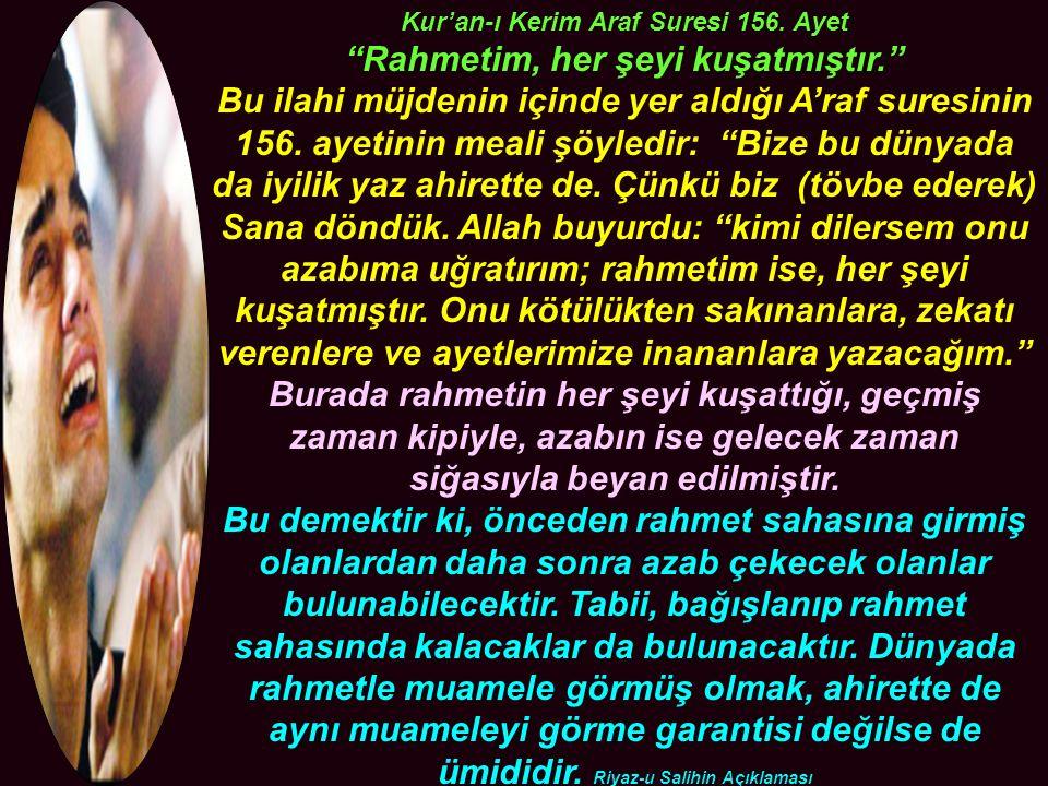 Kur'an-ı Kerim Araf Suresi 156.