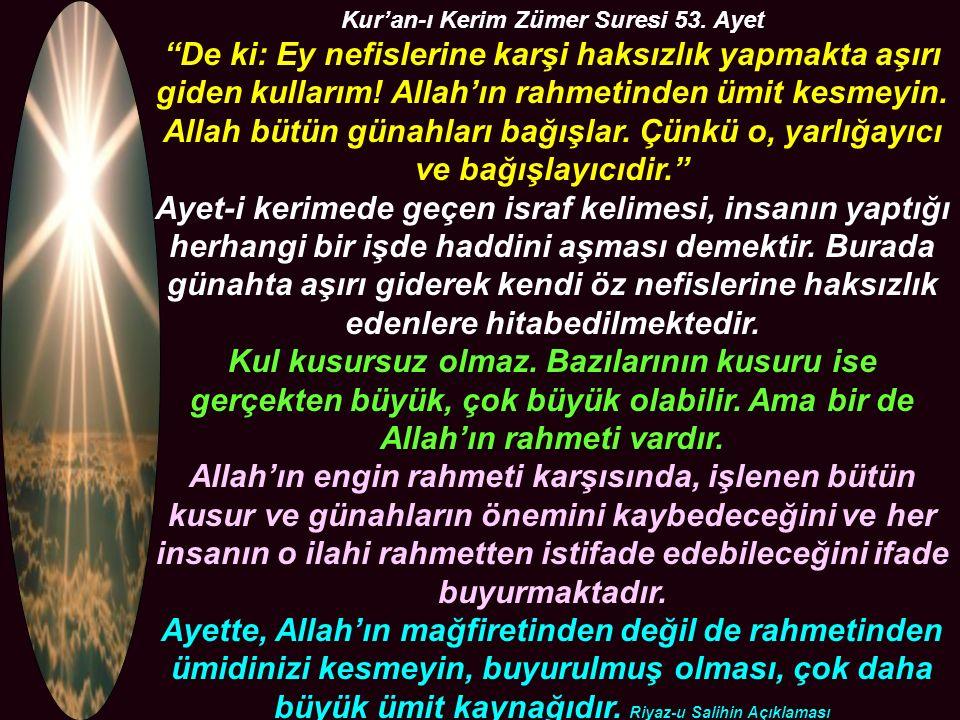 Kur'an-ı Kerim Zümer Suresi 53.