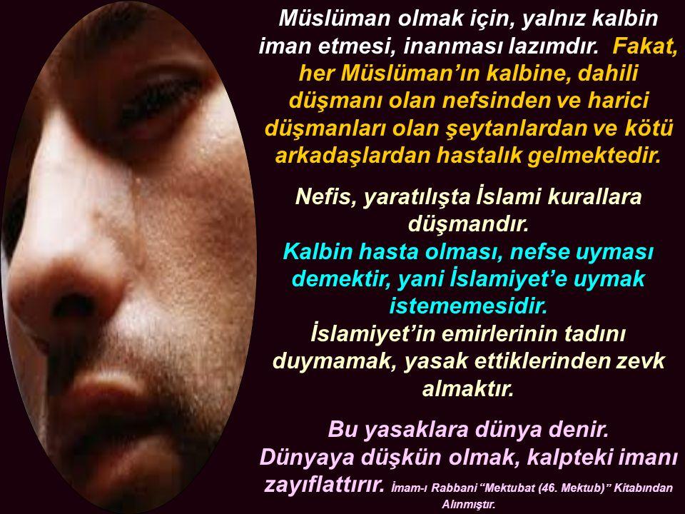 Müslüman olmak için, yalnız kalbin iman etmesi, inanması lazımdır.