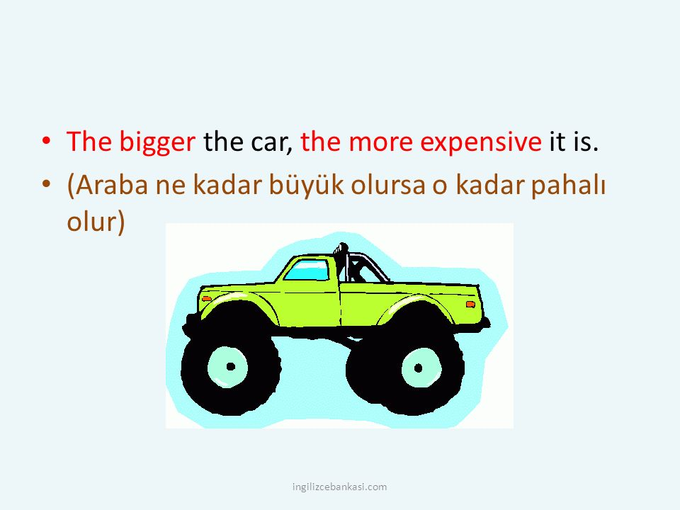 The bigger the car, the more expensive it is.