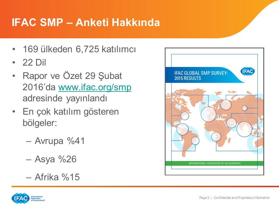 Page 3 | Confidential and Proprietary Information IFAC SMP – Anketi Hakkında 169 ülkeden 6,725 katılımcı 22 Dil Rapor ve Özet 29 Şubat 2016'da www.ifa