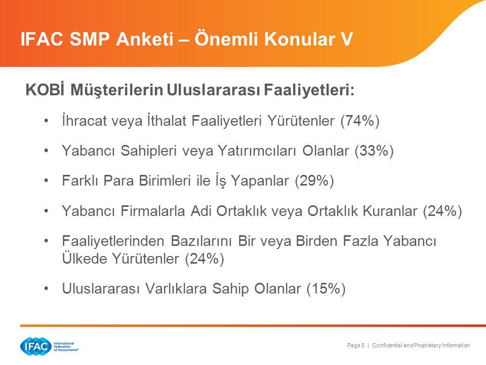 Page 8 | Confidential and Proprietary Information KOBİ Müşterilerin Uluslararası Faaliyetleri: İhracat veya İthalat Faaliyetleri Yürütenler (74%) Yaba