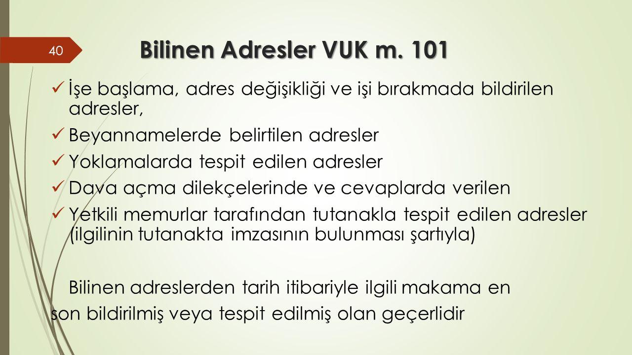 Bilinen Adresler VUK m.