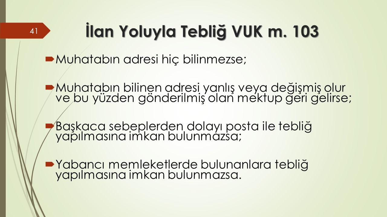 İlan Yoluyla Tebliğ VUK m.