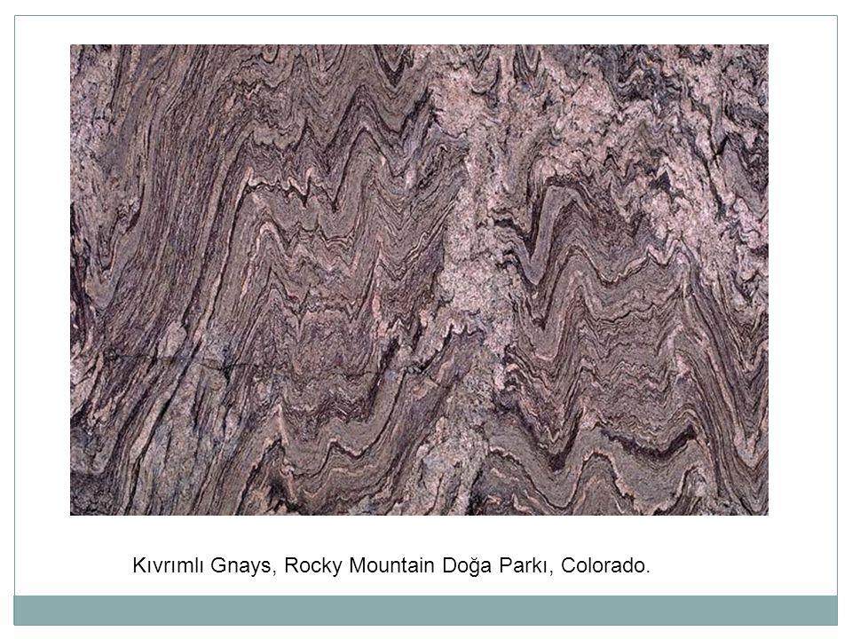 Kıvrımlı Gnays, Rocky Mountain Doğa Parkı, Colorado.