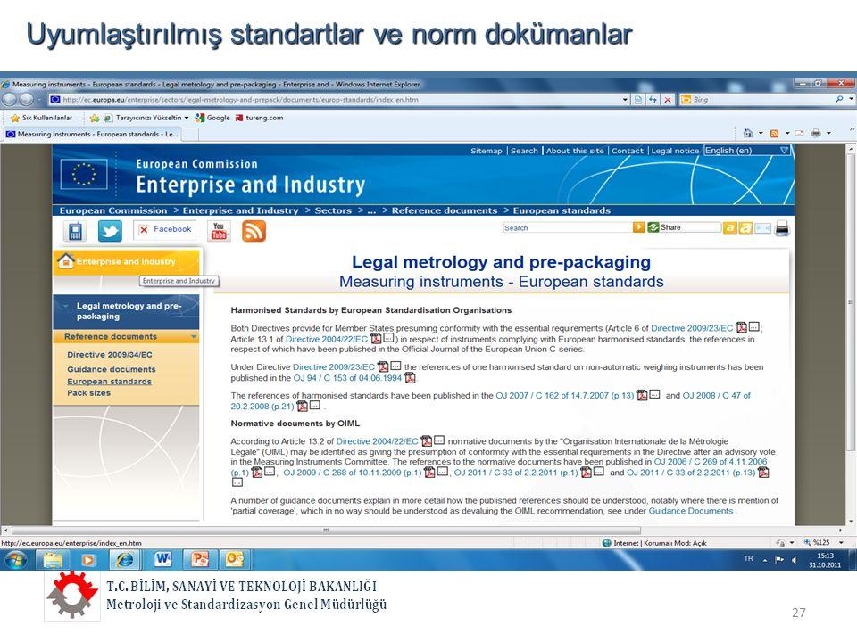 Uyumlaştırılmış standartlar ve norm dokümanlar  27