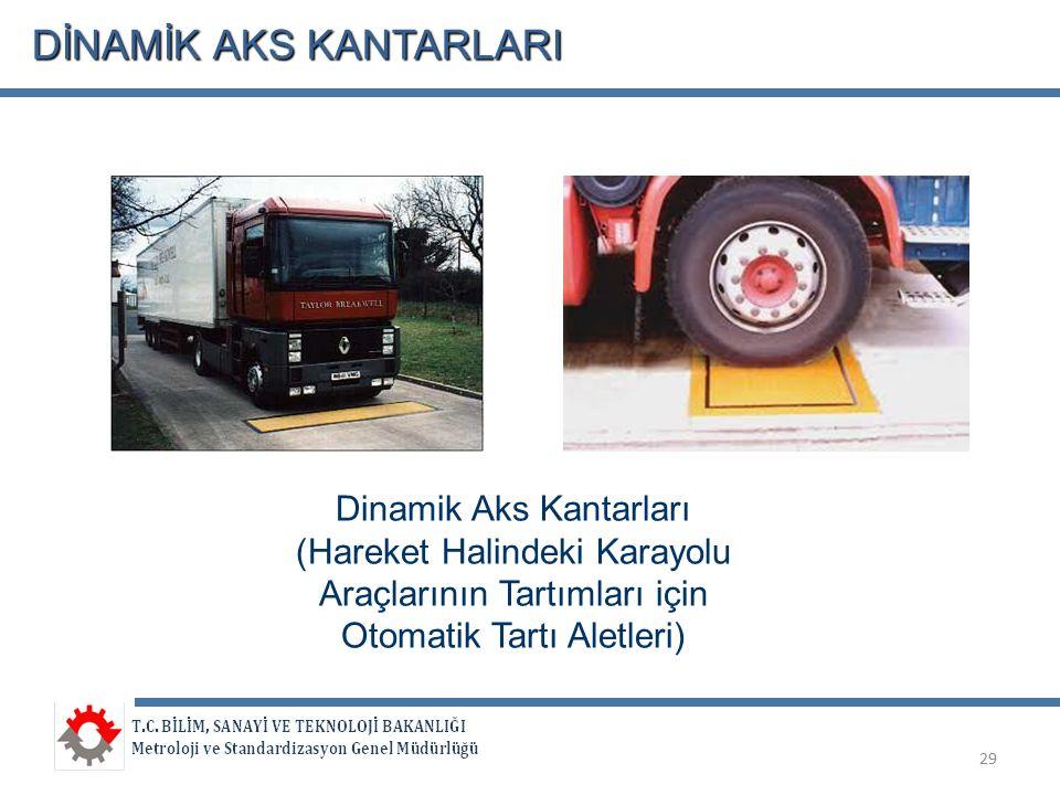 DİNAMİK AKS KANTARLARI 29 Dinamik Aks Kantarları (Hareket Halindeki Karayolu Araçlarının Tartımları için Otomatik Tartı Aletleri)