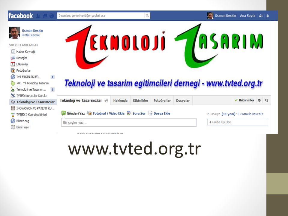 Facebook www.tvted.org.tr