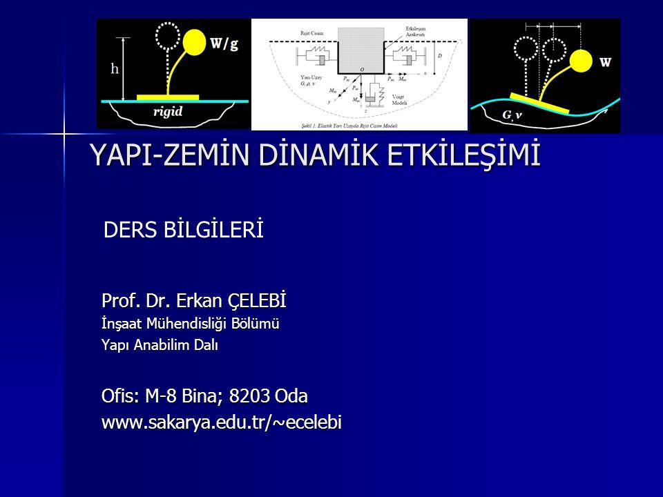 YAPI-ZEMİN DİNAMİK ETKİLEŞİMİ Prof. Dr.