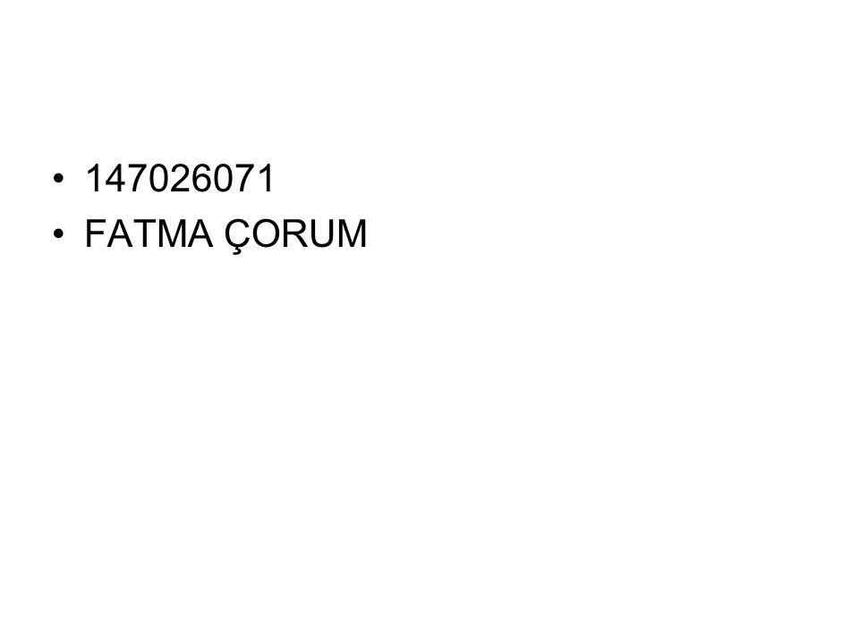 147026071 FATMA ÇORUM