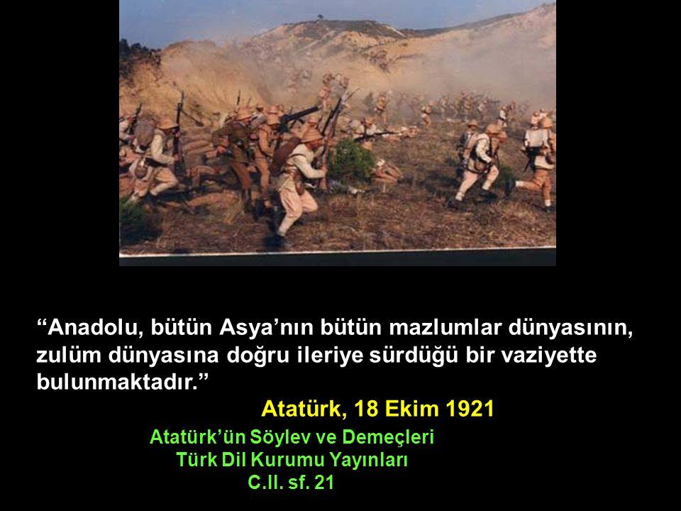 Türkiye'nin bugünkü mücadelesi yalnız kendi nam ve hesabına olsaydı, belki daha kısa, daha az kanlı olur ve daha çabuk bitebilirdi.