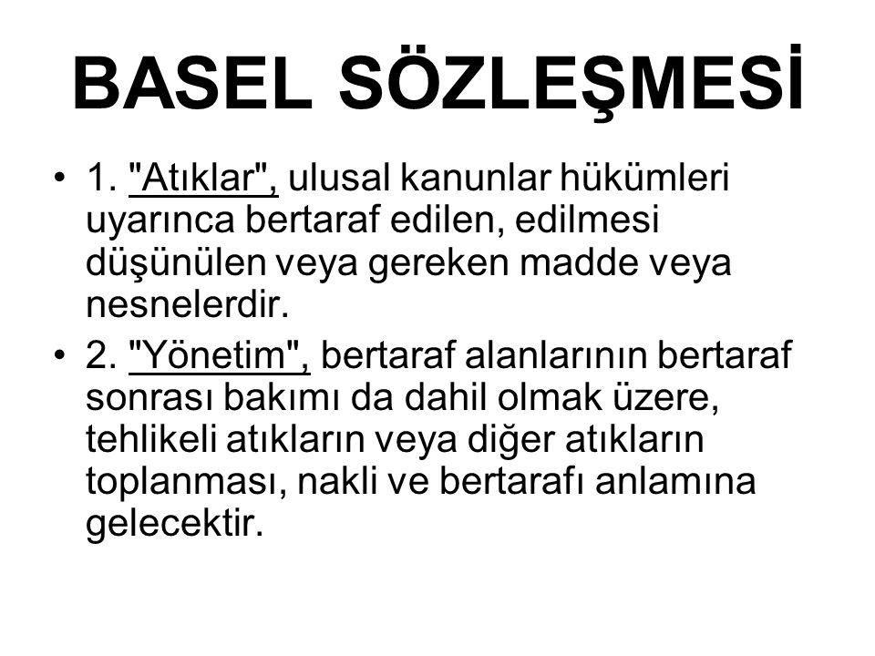 BASEL SÖZLEŞMESİ 1.