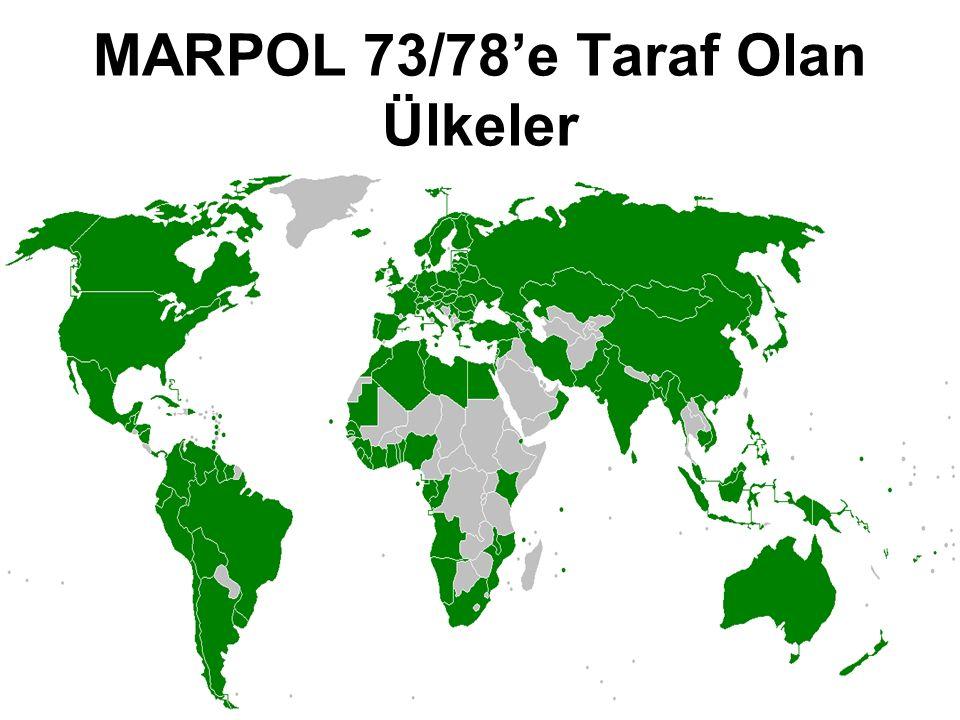 MARPOL 73/78'e Taraf Olan Ülkeler