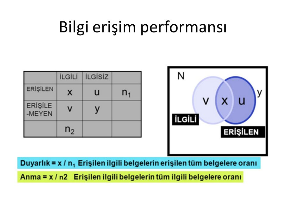 Bilgi erişim performansı