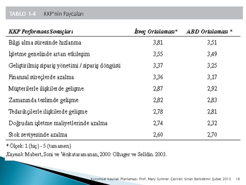 16Kurumsal Kaynak Planlaması Prof. Mary Sumner Çeviren Sinan Berkdemir Şubat 2013