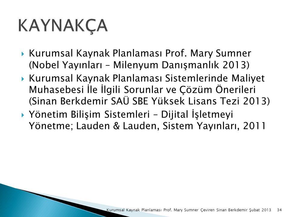 34Kurumsal Kaynak Planlaması Prof.