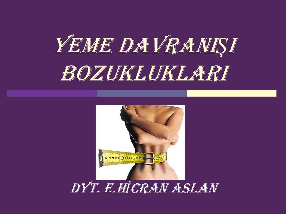 HİCRAN ASLAN22  Kronik bağırsak hastalıkları (Crohn vb.),  Endokrin hastalıklar (Hipertiroidizm, Addison hastalığı veya diabetes mellitus),  Neoplazmalar ve diğer tüm ağırlık kaybı ile seyreden medikal ve psikiyatrik hastalıklardan ayırıcı tanısının yapılması gerekmektedir