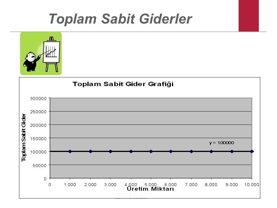 © 2011 IFRS Foundation Toplam Sabit Giderler