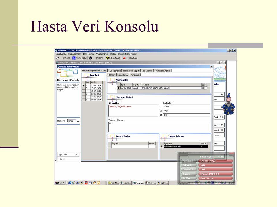 Hasta Veri Konsolu
