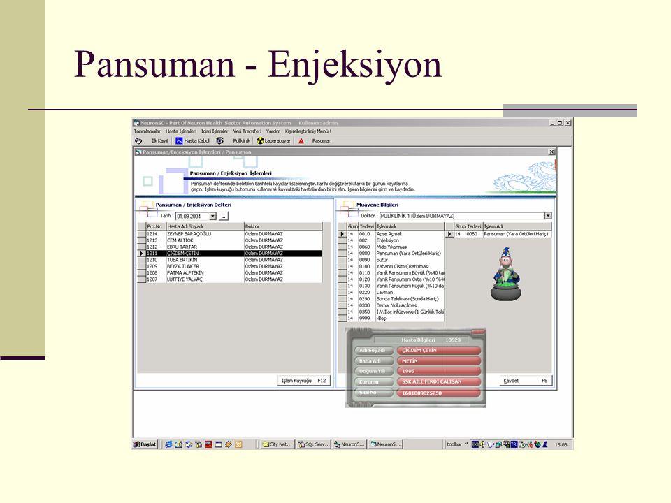 Pansuman - Enjeksiyon