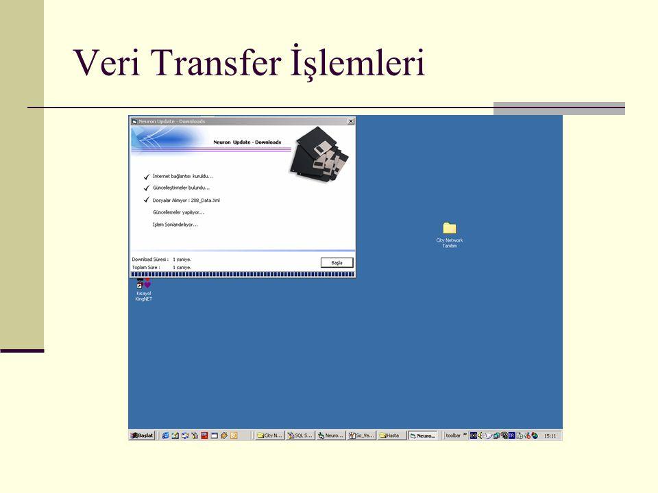 Veri Transfer İşlemleri