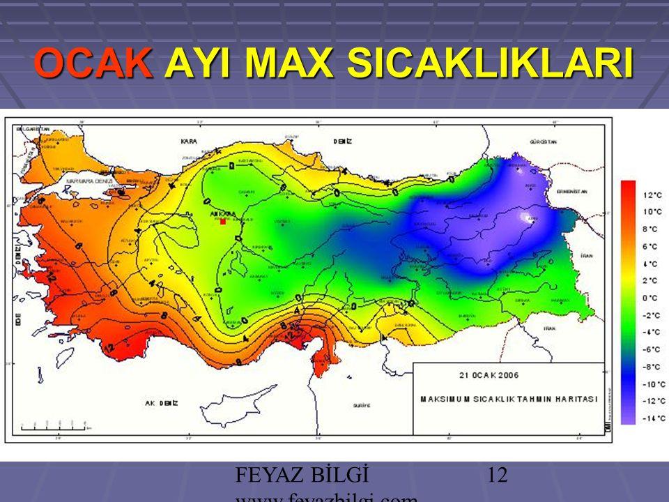 FEYAZ BİLGİ www.feyazbilgi.com 11 PRATİK BİLGİ: PRATİK BİLGİ: Türkiye'nin çoğunluğunda Step ve Akdeniz İklimleri hakimdir.