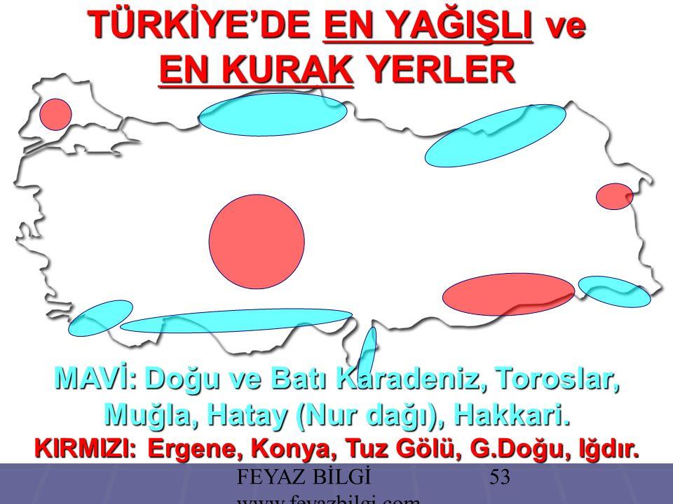 FEYAZ BİLGİ www.feyazbilgi.com 52 Türkiye'de akarsuların genellikle en fazla suyu ilkbaharda taşımalarının temel nedeni aşağıdakilerden hangisidir.