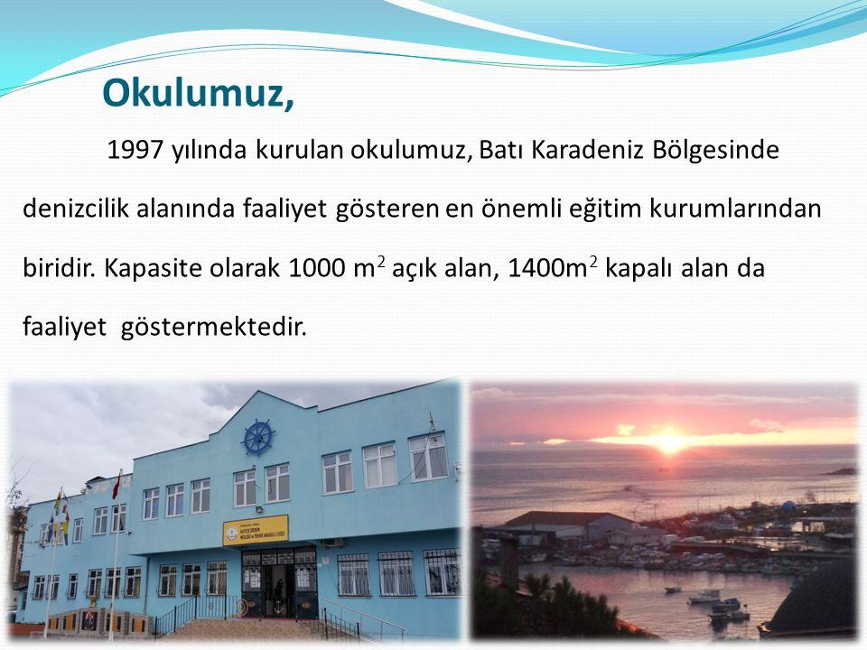 1997 yılında kurulan okulumuz, Batı Karadeniz Bölgesinde denizcilik alanında faaliyet gösteren en önemli eğitim kurumlarından biridir.