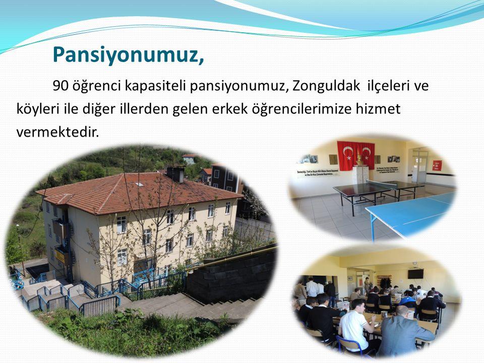 90 öğrenci kapasiteli pansiyonumuz, Zonguldak ilçeleri ve köyleri ile diğer illerden gelen erkek öğrencilerimize hizmet vermektedir.