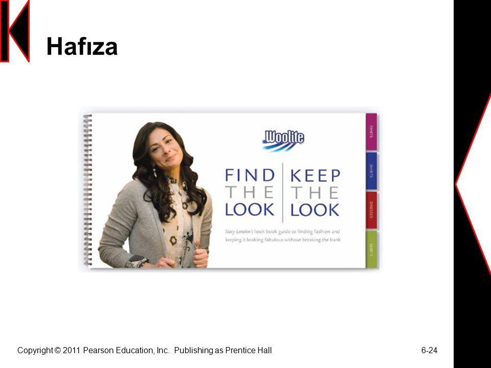 Hafıza Copyright © 2011 Pearson Education, Inc. Publishing as Prentice Hall 6-24