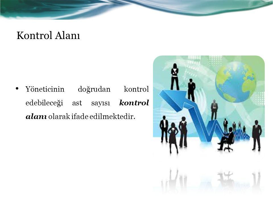 Kontrol Alanı Yöneticinin doğrudan kontrol edebileceği ast sayısı kontrol alanı olarak ifade edilmektedir.