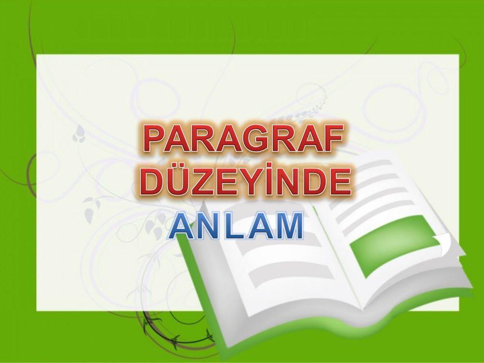 Paragraf Paragraf Belirli bir düşüncenin dile getirildiği cümleler kümesi olarak tanımlanabilir.