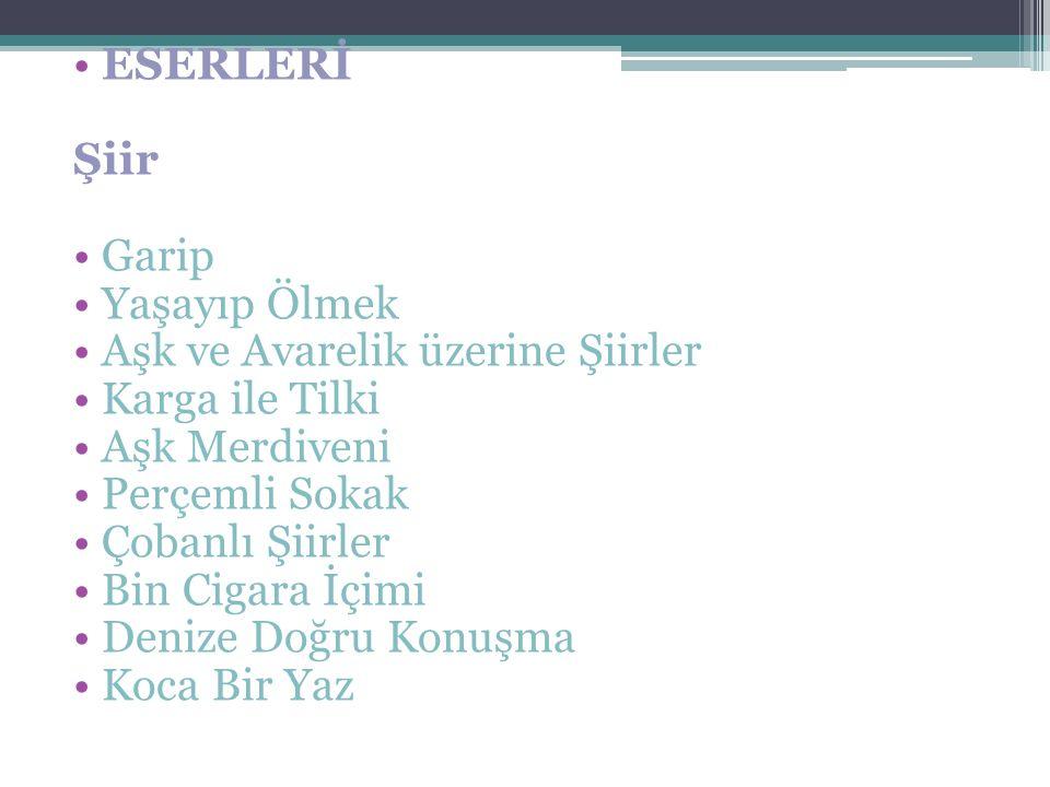 Oktay Rıfat HOROZCU (1914-1988) Trabzon'da doğan sanatçı Ankara'da hukuk fakültesini bitirdi İlk şiirleri varlık dergisinde yayınlandı Şiirlerinde hep değişim ve farklılaşma vardı Şiir toplumun sorunlarına çare aramak için bir araç olarak gördü Toplum için sanat anlayışını benimsedi Perçemli sokak adlı eseriyle birlikte soyut şiirlere yöneldiği görülür Halk masallarında deyim ve atasözlerin den yararlanmıştır Sözcüklerle tablo çizer Şair dilinde mecazlar bolca vardır.