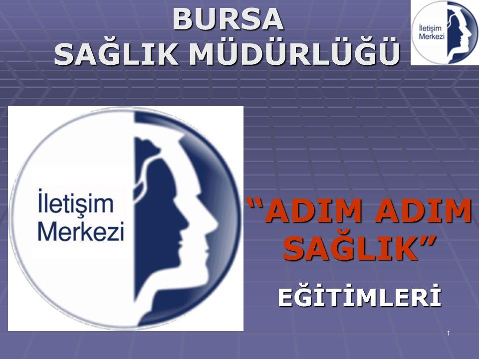 """1 BURSA SAĞLIK MÜDÜRLÜĞÜ """"ADIM ADIM SAĞLIK""""EĞİTİMLERİ"""