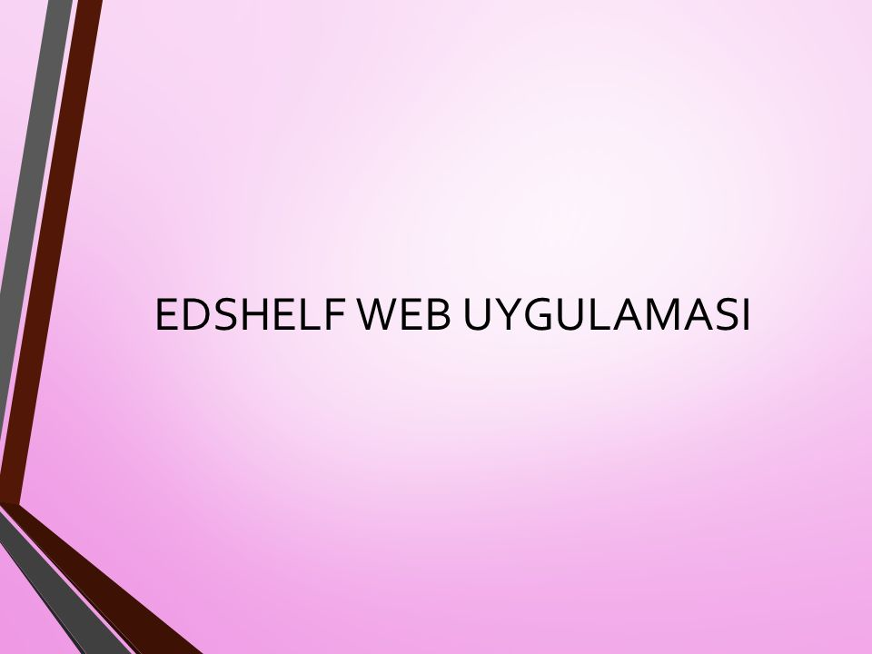 EDSHELF WEB UYGULAMASI