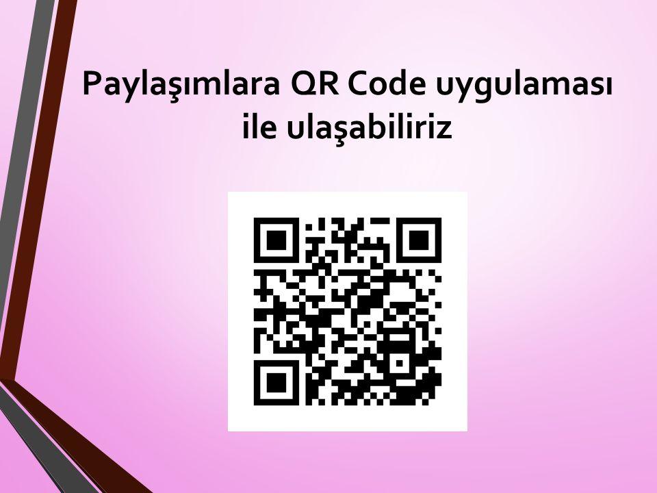 Paylaşımlara QR Code uygulaması ile ulaşabiliriz