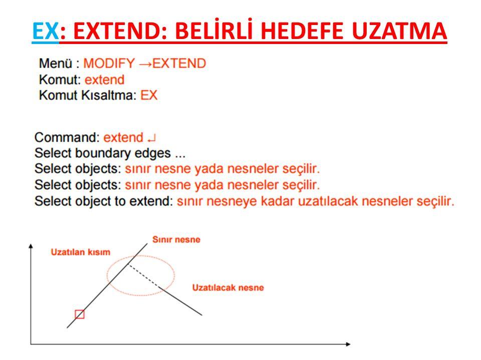 EX: EXTEND: BELİRLİ HEDEFE UZATMA