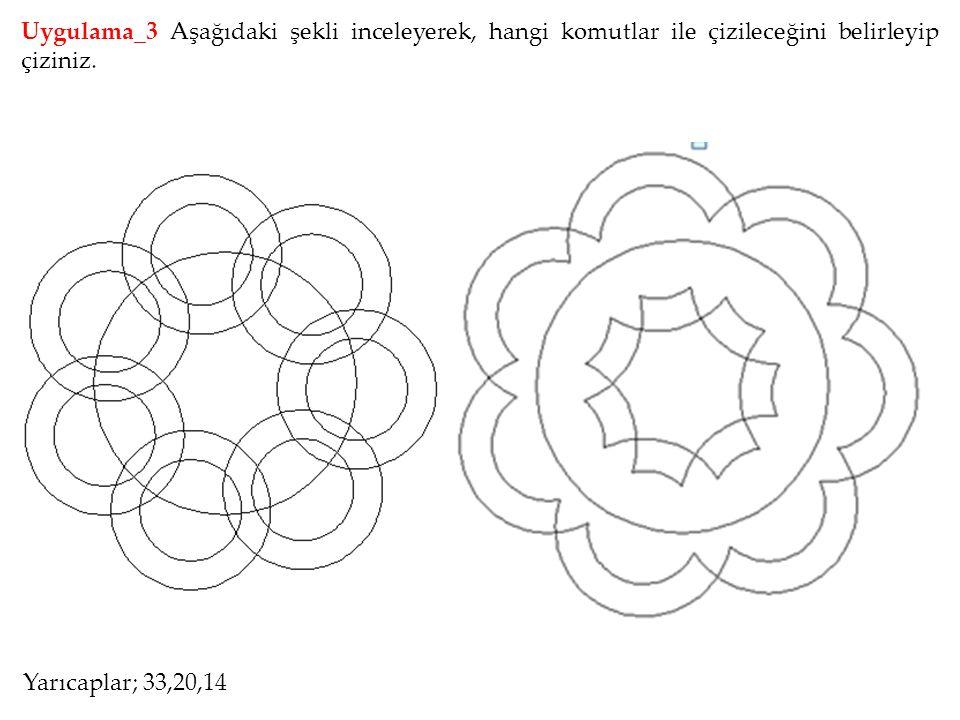 Uygulama_3 Aşağıdaki şekli inceleyerek, hangi komutlar ile çizileceğini belirleyip çiziniz.