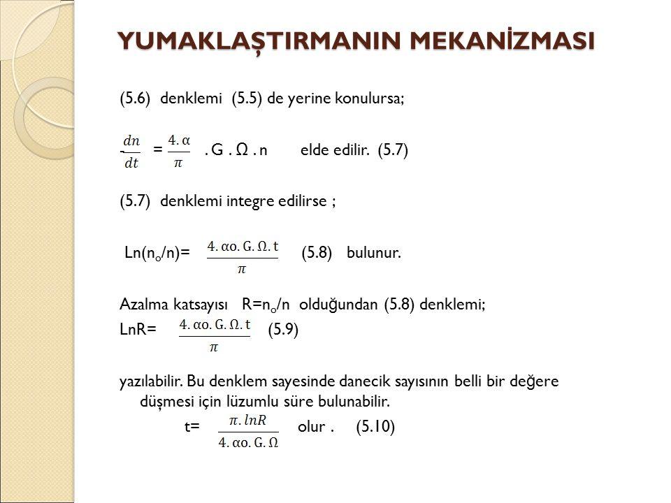 (5.6) denklemi (5.5) de yerine konulursa; - =. G.