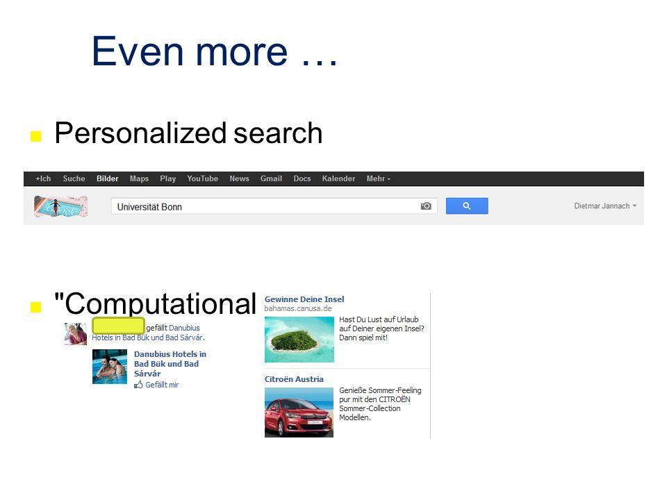 Even more … Personalized search