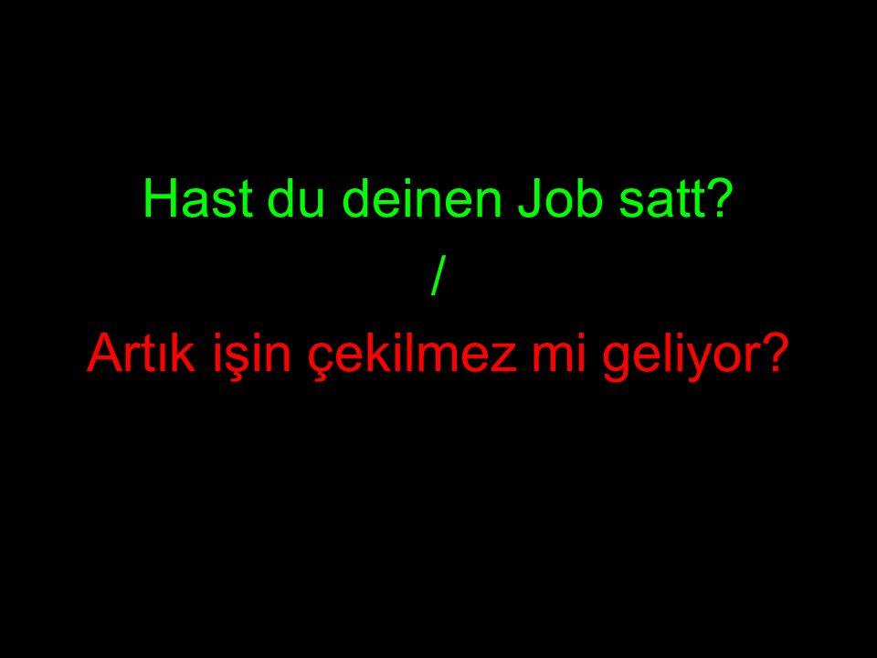 Hast du deinen Job satt? / Artık işin çekilmez mi geliyor?