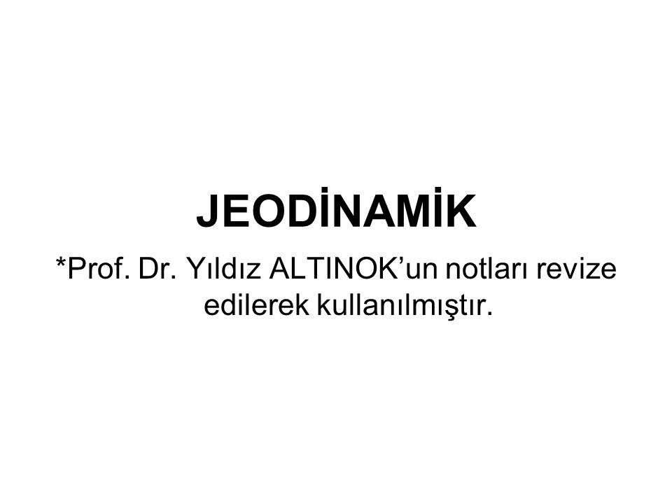 JEODİNAMİK *Prof. Dr. Yıldız ALTINOK'un notları revize edilerek kullanılmıştır.