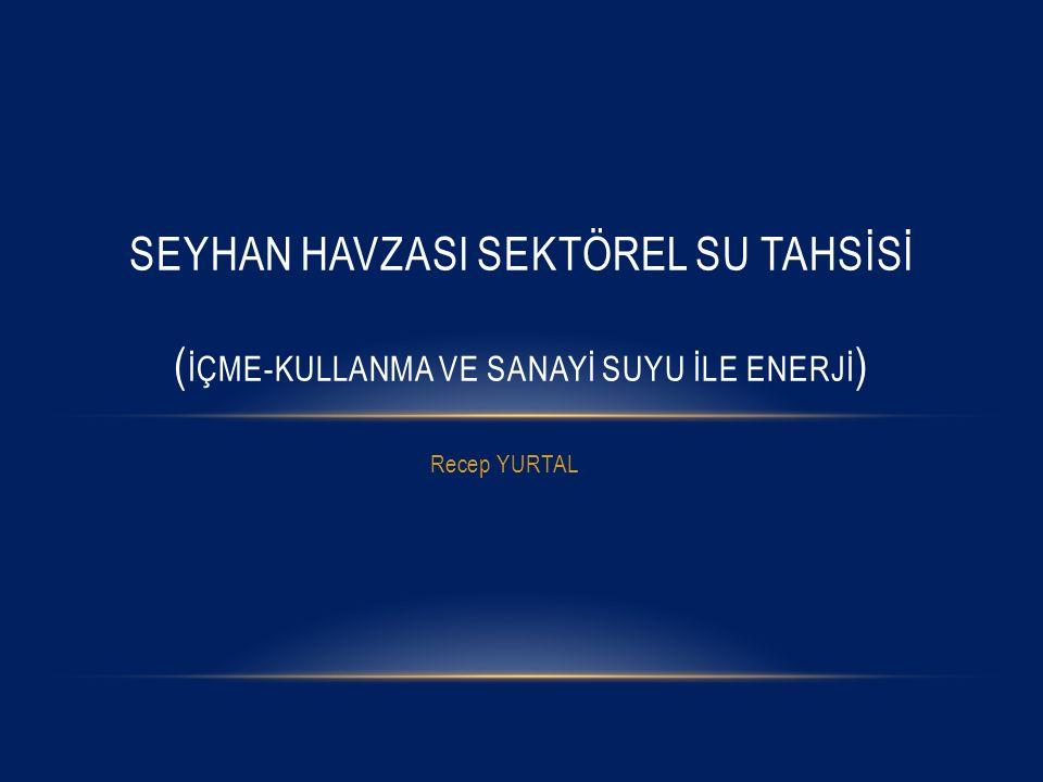 Recep YURTAL SEYHAN HAVZASI SEKTÖREL SU TAHSİSİ ( İÇME-KULLANMA VE SANAYİ SUYU İLE ENERJİ )